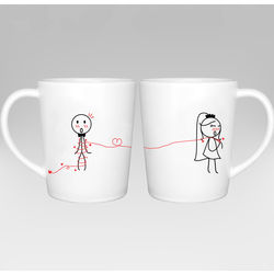 Tie the Knot Bride and Groom Wedding Couple Mugs
