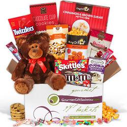 Valentine's Day Snack Gift Basket for Kids