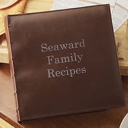 Personalized Family Recipe Book