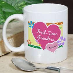 Personalized First-Time Grandma Mug
