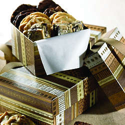Brown-on-Brown Gift Box with 3 Dozen Cookies