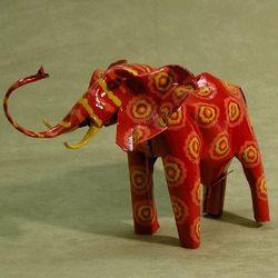 Friendly Elephant Tin Sculpture
