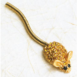 Golden Crystal Mouse Pin