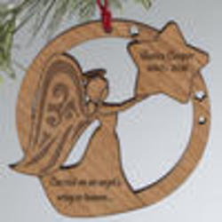 Personalized Memorial Angel Christmas Ornament