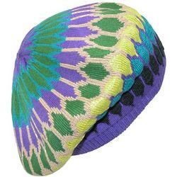 Mosaic Knit Beret