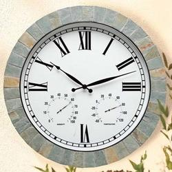 Natural Slate Weather Clock
