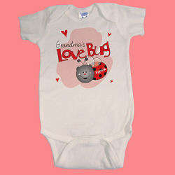 Personalized Love Bug Infant Creeper