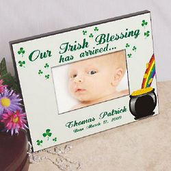 Our Irish Blessing Personalized Baby Picture Frame