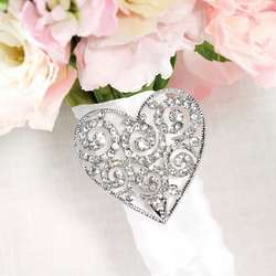 Silver-Finish Ornate Bouquet Buckle