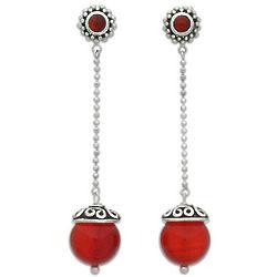 All Aglow Carnelian Earrings