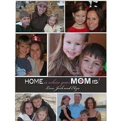 Personalized Home Is Where Your Mom Is Photo Wall Canvas