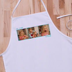 Personalized Kid's Three Photo Apron