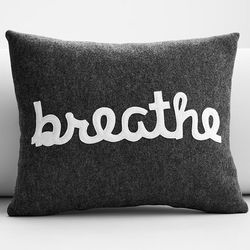 Breathe Eco Friendly Applique Pillow