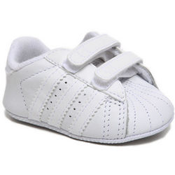 Baby Boy's White Superstar 2 Comfort Crib Shoes