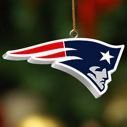 Handpainted New England Patriots Logo Ornament