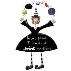 Hocus Pocus Drink to Focus Witch Plaque