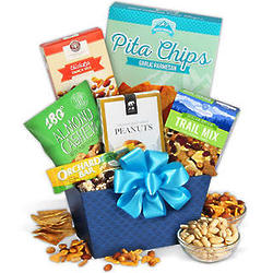 Banana Chips and Trail Mix Healthy Food Basket