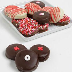 Hugs and Kisses Chocolate Dipped Oreo Cookies