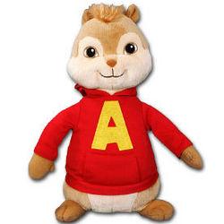 """10"""" Chipmunks Alvin Plush Beanie Baby Doll"""