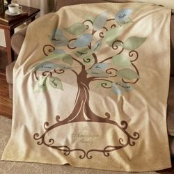 Family Tree Personalized Throw Blanket