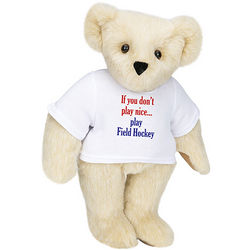 "Don't Play Nice Field Hockey 15"" Bear with T-Shirt"