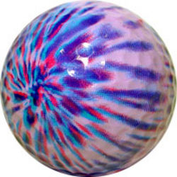 Purple Tie Dye Golf Ball