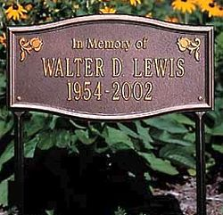 Alexandria Memorial Lawn Marker
