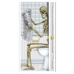 Restroom Skeleton Door Cover