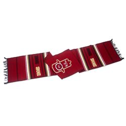 Hamsa Cotton Table Runner in Red