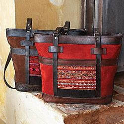 Bolivian Tapestry Suede Tote