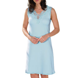 Lovely Lace Blue Cotton Nightie