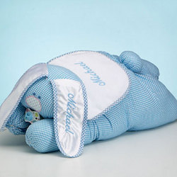 Personalized Blue Bunny Buddy Gift Set