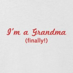 I'm a Grandma (finally!) Jersey T-Shirt