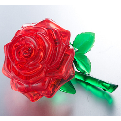 3D Rose Shaped Crystal Puzzle