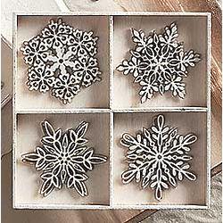 Santa Lucia Snowflake Ornaments
