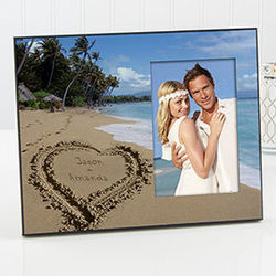 Personalized Tropical Beach Picture Frame