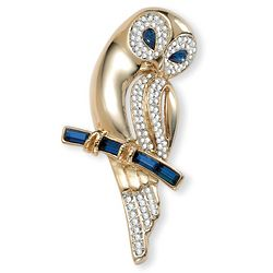 Crystal Owl Pin