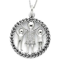 Family Knitted Together By Love Necklace