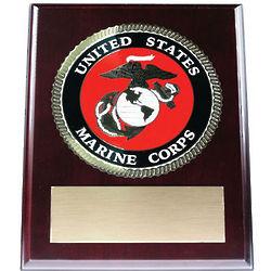 Engravable Marine Corps Emblem Plaque
