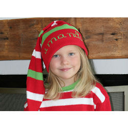Personalized Christmas Stocking Knit Hat
