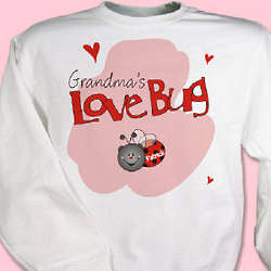 Personalized Love Bug Youth Sweatshirt