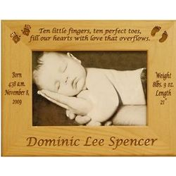Ten Little Fingers Personalized Newborn Frame
