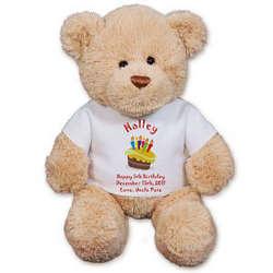 Personalized Birthday Cake Teddy Bear