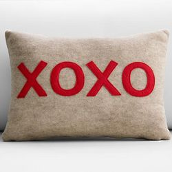 XOXO Recycled Pillow