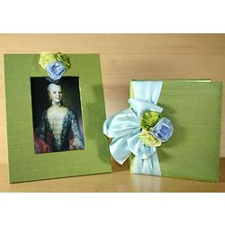 Birthday Photo Album Gift Set with Silk Flowers