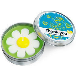 Daisy Flower Thank You Candle to Go