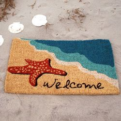 Starfish Welcome Coir Doormat