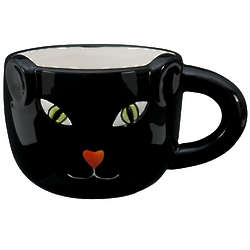 Handcrafted Sculpted Cat Mug