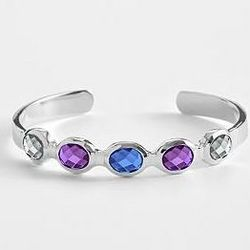 Customized Skinny Birthstone Cuff Bracelet