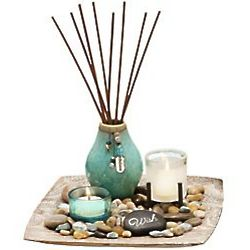Seagrass and Lotus Oil Diffuser Set